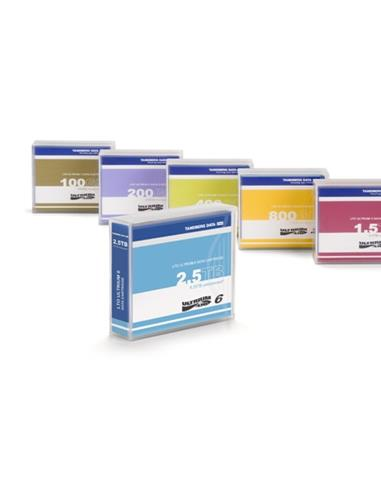 LTO-6 Data Cartridges, 2.5TB/6.25TB, pre-labelled (5-pack, contiene 5 unidades)