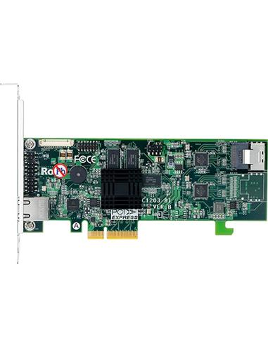 ARECA 4port 6Gb/s SATA PCIe 2.0 x4, RAIDCard, 512MB Cache, 1x intern SFF-8087,LP
